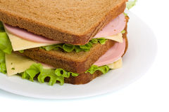 Whole wheat sandwiches Royalty Free Stock Image