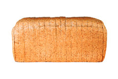 Whole wheat sliced bread. Over white background Stock Image