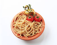 Whole wheat spaghetti Stock Image