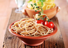 Whole Wheat Spaghetti Stock Photo