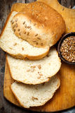Whole Wheat Sunflower Honey Oatmeal Bread. .style rustic Royalty Free Stock Image