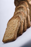 Whole wheat toast. Slices of whole wheat or multi-grain bread, toasted Royalty Free Stock Image