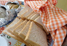 Whole wheat toast Stock Photography