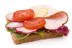 Whole wheat turkey breast sandwich Royalty Free Stock Images