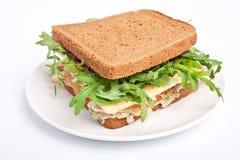 Whole wheat turkey sandwich Royalty Free Stock Image