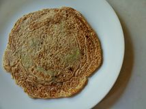 Whole wheat veg pancake. Whole wheat healthy veg pancake Royalty Free Stock Images