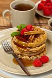 Whole wheat waffle Stock Photo