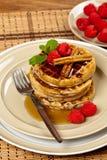 Whole wheat waffle Royalty Free Stock Photos
