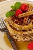 Whole wheat waffle Stock Photos