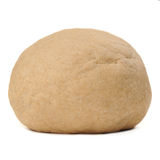 Whole Wheat Yeast Dough on White Background Royalty Free Stock Image