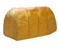 Whole white bread in a white background Royalty Free Stock Photos