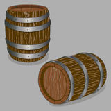 Whole wood barrel. Vector illustration logo for whole wood barrel filled with wine,background.Barrel drawing consisting of tag label,natural container made of Stock Image