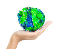 Whole world on the arm Royalty Free Stock Photo