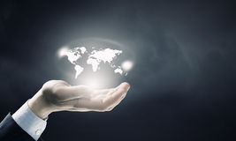 Whole world in hands Royalty Free Stock Photos