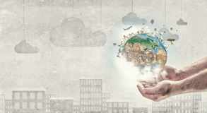 Whole world in hands Royalty Free Stock Images