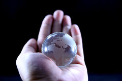The whole world in my hands Royalty Free Stock Images
