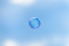 The whole world in a soap bubble Stock Photography