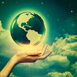 Whole world in your hands Royalty Free Stock Photos