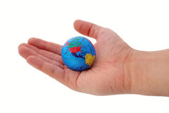 Whole world in your hands. Travel or ecology Royalty Free Stock Photography