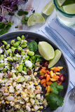Wholefood vegetarian salad Royalty Free Stock Image