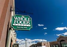 Wholefoods sklepu znak Obraz Stock