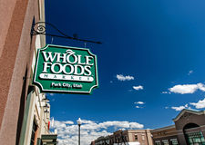Wholefoods store sign. Stock Image
