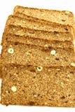 Wholegrain bread. On white background Stock Photos
