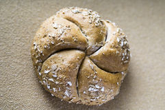 Wholegrain bread bun Stock Images