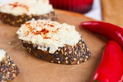 Wholegrain bread with spices Royalty Free Stock Image