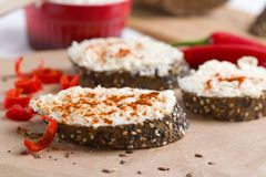 Wholegrain bread with spices Stock Image