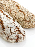 Wholegrain brood twee Stock Fotografie