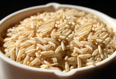 Wholegrain Brown Rice Royalty Free Stock Photos