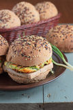 Wholegrain burgers with tofu Royalty Free Stock Image