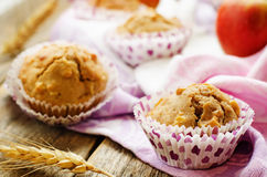 Wholegrain muffins with apples Royalty Free Stock Photo