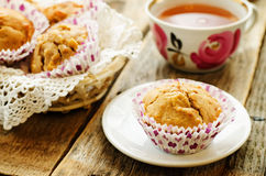 Wholegrain muffins with apples Royalty Free Stock Photos