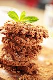 Wholegrain nutty cookies Royalty Free Stock Photography