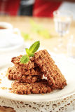 Wholegrain nutty cookies Royalty Free Stock Images