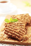 Wholegrain nutty cookies Stock Photography