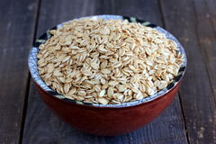 Wholegrain oat flakes Stock Images