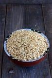 Wholegrain oat flakes Royalty Free Stock Photo