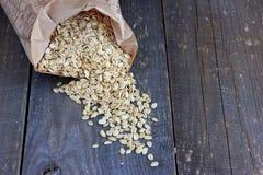 Wholegrain oat flakes Royalty Free Stock Photos