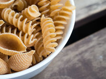 Wholegrain pasta mix Stock Image