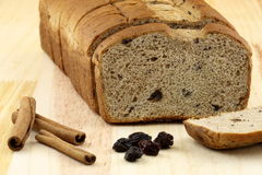 Wholegrain raisins and nuts bread Stock Image
