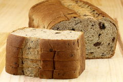 Wholegrain raisins and nuts bread Royalty Free Stock Photography