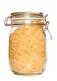 Wholegrain rice in a jar. Studio cutout Royalty Free Stock Photo