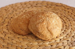 Wholegrain rolls with sesame seeds Stock Image