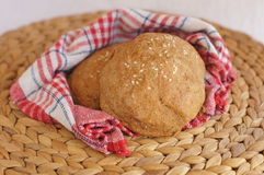 Wholegrain rolls with sesame seeds Royalty Free Stock Photos