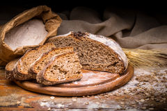 Wholegrain rye bread Royalty Free Stock Image