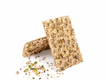 Wholegrain rye crispbread Royalty Free Stock Image