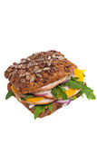 Wholegrain sandwich Stock Photography